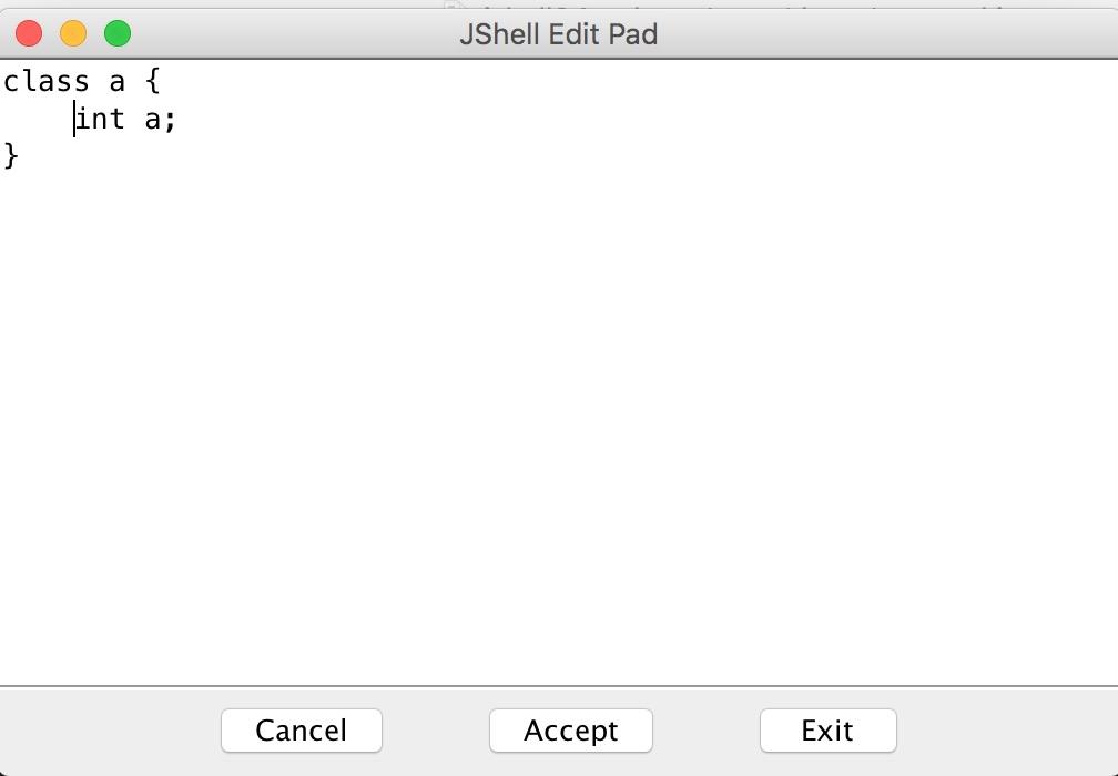 JShell에 포함된 기본 편집기